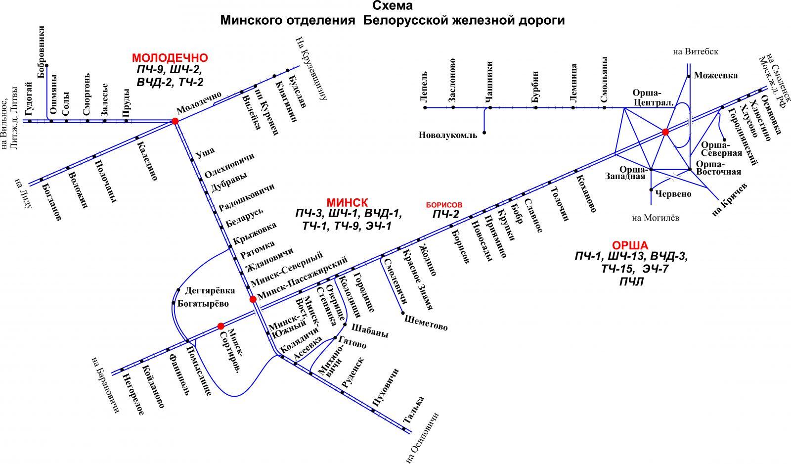 Белорусская железная дорога схема фото 94